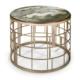 Okrągły stolik kawowy marmur złoty mat Koro Sicis