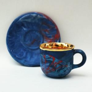 Porcelanowa filiżanka ze spodkiem Macchia