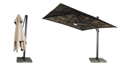 Składany, oryginalny parasol ogrodowy zewnętrzny Cache-Cache Sonata
