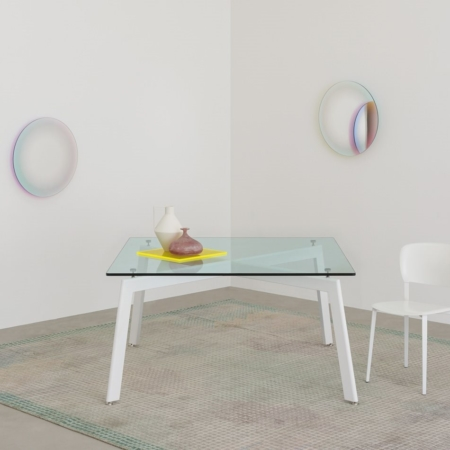 Stół ze szklanym blatem Link