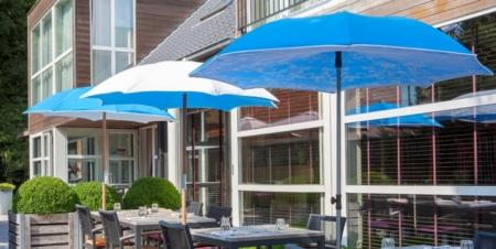 Stylowy parasol ogrodowy zewnętrzny Chiuso