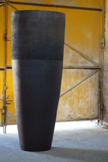 Wysoka donica zewnętrzna Paris Terakota