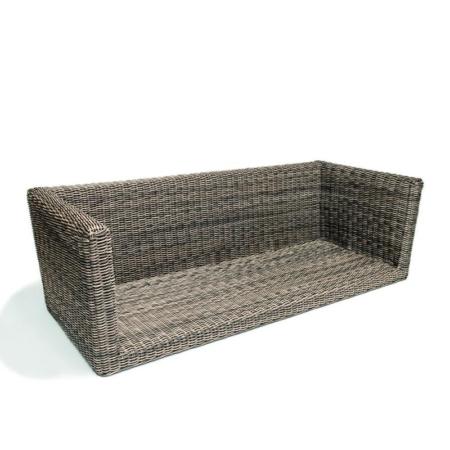 3-osobowa sofa zewnętrzna z rattanu RENE
