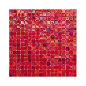 Amarantowa mozaika ze szkła z tęczowym refleksem 140 MELOGRANO