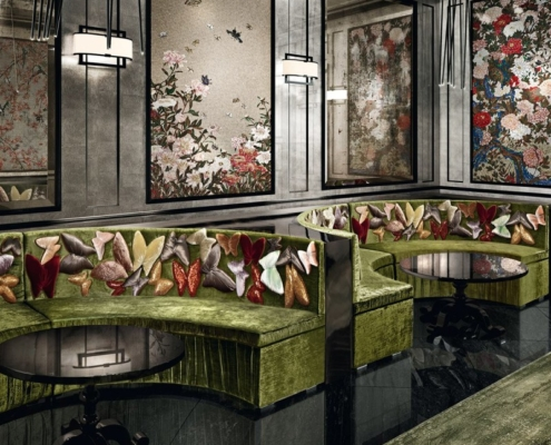 Arystyczna mozaika ozdobna w ekskluzywnym barze