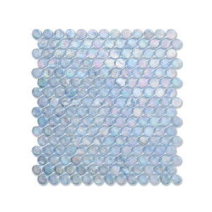 Błękitna mozaika ze szkła BARRELS 245 CASHMERE