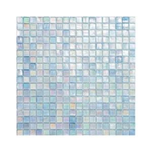 Błękitna mozaika ze szkła z tęczowym refleksem 145 GRAPEFRUIT