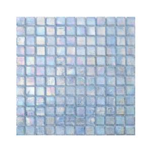 Błękitna mozaika ze szkła z tęczowym refleksem CUBES 245 CASHMERE