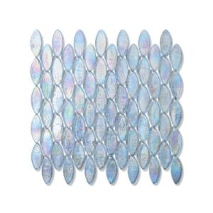 Błękitna z tęczowym refleksem mozaika ze szkła DOMES 245 CASHMERE