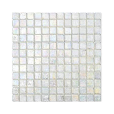 Bezbarwna mozaika ze szkła z tęczowym refleksem CUBES 221 FLAX