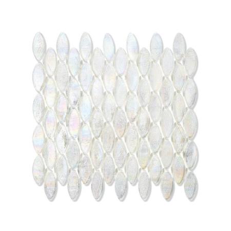 Bezbarwna mozaika ze szkła z tęczowym refleksem DOMES 221 FLAX