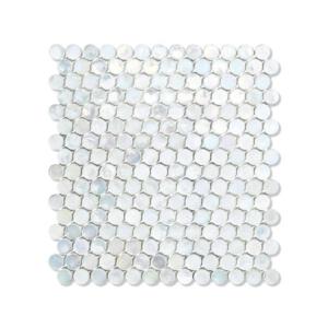 Biała mozaika ze szkła BARRELS 220 COTTON