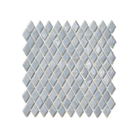Biało-szara mozaika ze szkła MOHS
