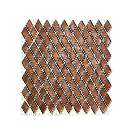 Brązowa mozaika ze szkła CITRINE