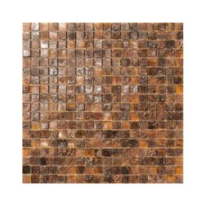 Brązowa mozaika ze szkła ETIOPIA