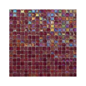 Burgundowa mozaika ze szkła z tęczowym refleksem 122 STRAWBERRY