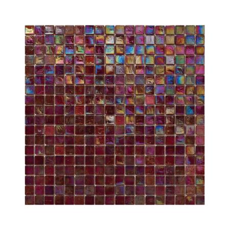 Burgundowa mozaika ze szkła z tęczowym refleksem 128 TAMARIND
