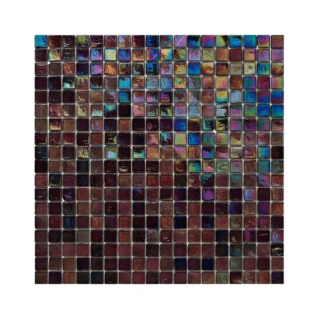 Ciemnoczerwona mozaika ze szkła z tęczowym refleksem 123 MIRTILLO