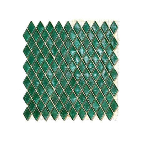 Ciemnozielona mozaika ze szkła GUANIAMO