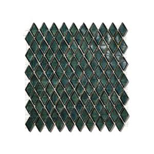 Ciemnozielony mozaika ze szkła DRESDEN