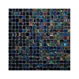 Czarna mozaika ze szkła z tęczowym refleksem ORCHIS