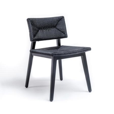 Czarne krzesło ogrodowe MARIE