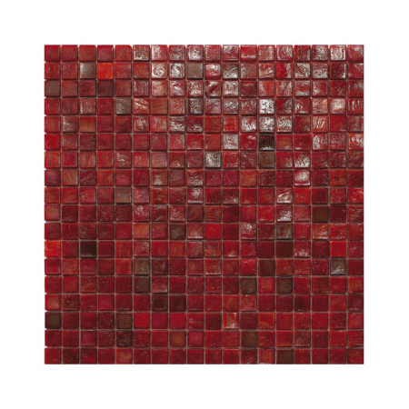 Czerwona mozaika ze szkła CORAL 4