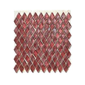 Czerwona mozaika ze szkła MANDALAY