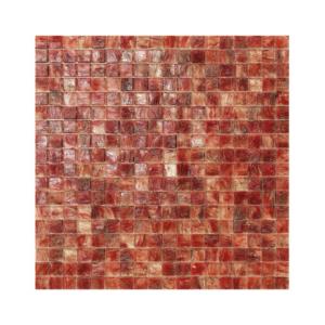 Czerwono-kremowa mozaika ze szkła CUBA