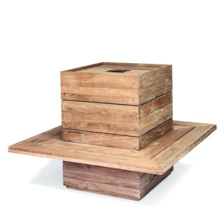 Drewniana ławka donica zewnętrzna FERDY