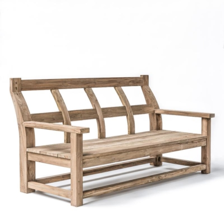 Drewniana ławka ogrodowa z oparciem GUSTAVE