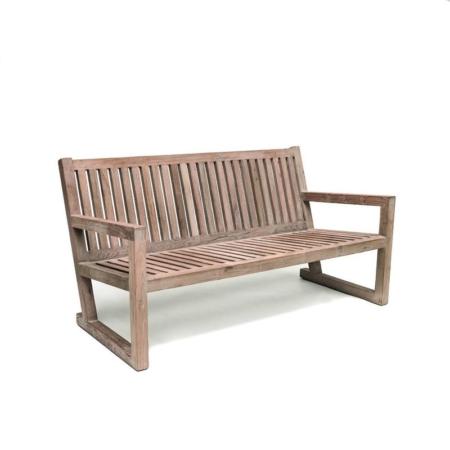 Drewniana ławka zewnętrzna ALAN