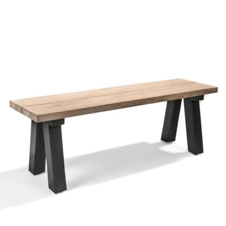 Drewniana ławka zewnętrzna bez oparcia ANTICA
