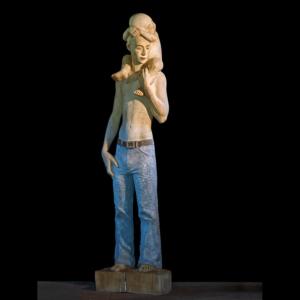 Drewniana rzeźba Christopherus Małgorzata Chodakowska