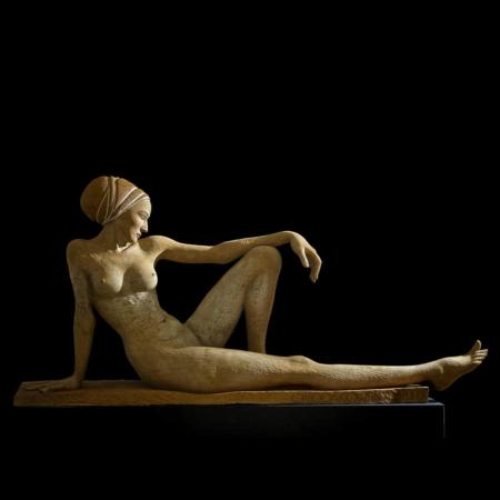 Drewniana rzeźba kobieta Apolonia dąb Małgorzata Chodakowska