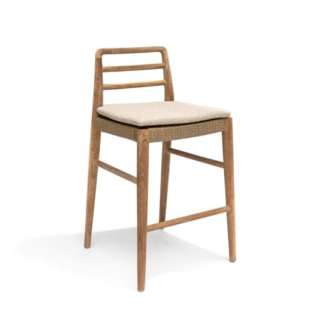 Drewniane krzesło barowe z oparciem JARED