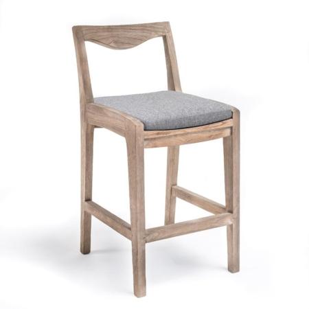Drewniane krzesło barowe zewnętrzne CURVE