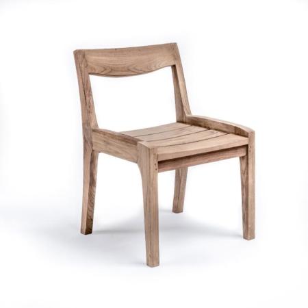 Drewniane krzesło ogorodowe CURVE