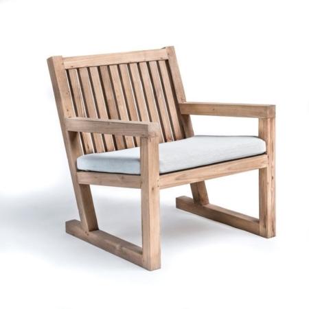 Drewniane krzesło ogrodowe z podłokietnikami ALAN