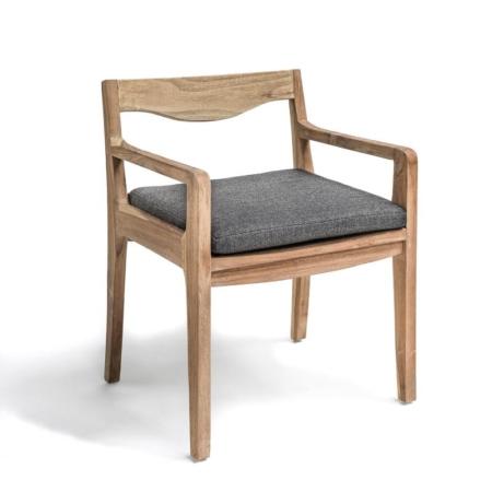 Drewniane krzesło ogrodowe z podłokietnikami CURVE