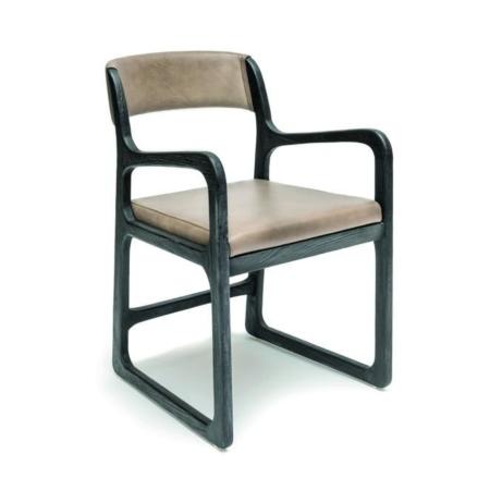 Drewniane krzesło z podłoketnikami SALLY