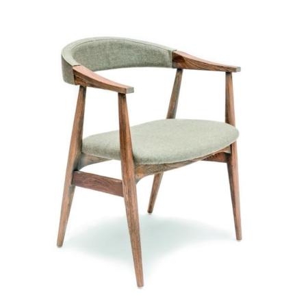 Drewniane krzesło z podłokietnikami FAYE