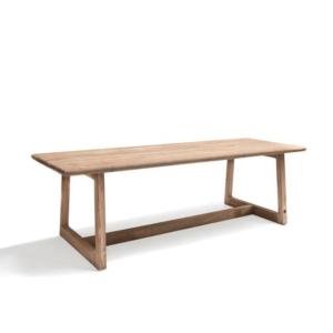 Drewniany, prostokątny stół zewnętrzny DENNIS
