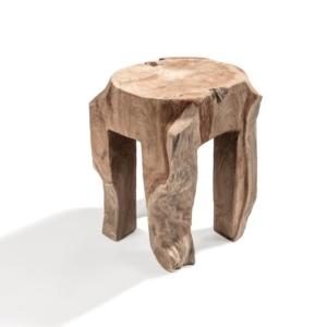 Drewniany stołek zewnętrzny ALILA