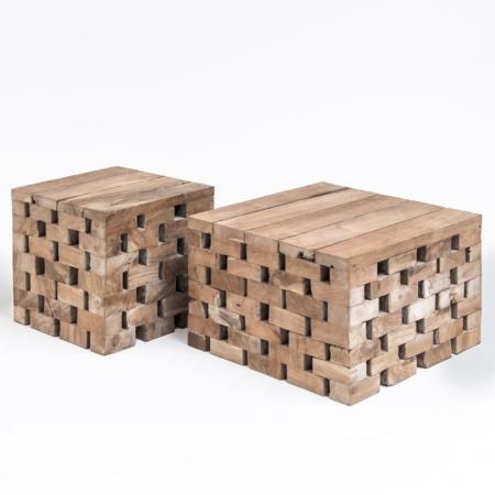 Drewniany stolik kawowy PUZZLE
