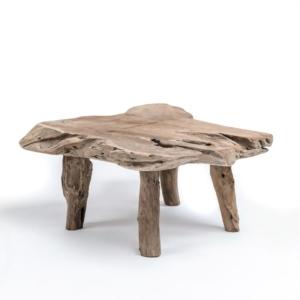 Drewniany stolik kawowy z pnia NATURAL