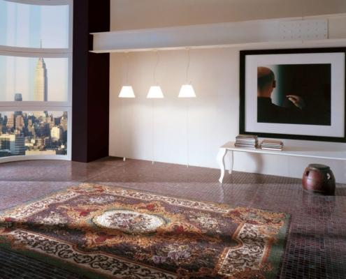 Imitacja dywanu z mozaiki