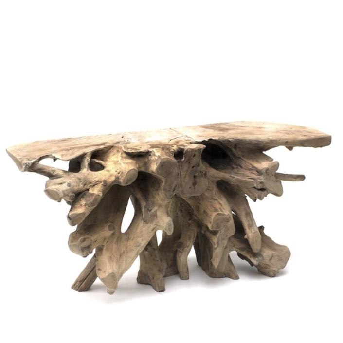 Konsola z drewnianego drzewa ROOT