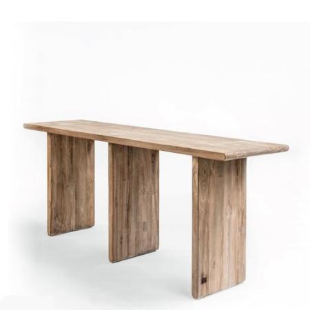 Konsola z jasnego drewna DRAKE