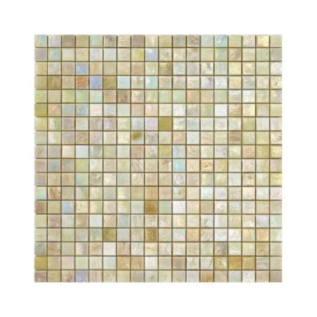 Kremowa mozaika ze szkła z tęczowym refleksem MARIGOLD 1